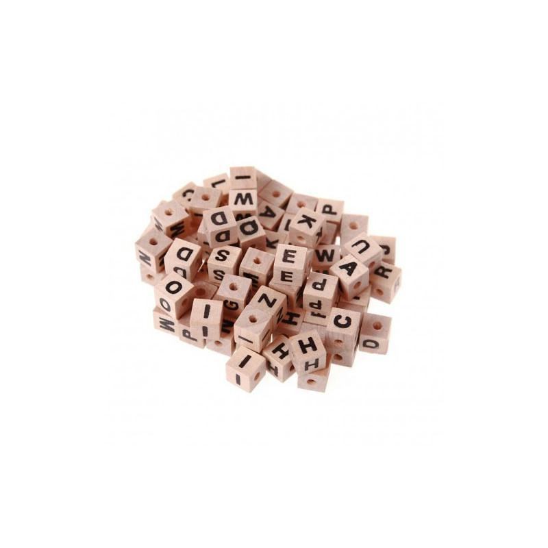 perles lettres bois 7mm perles alphabet creavea