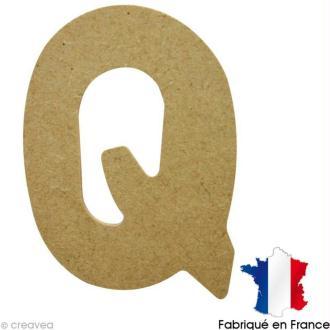 Lettre en bois Q 7 cm