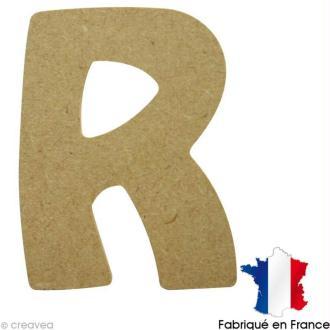 Lettre en bois R 7 cm