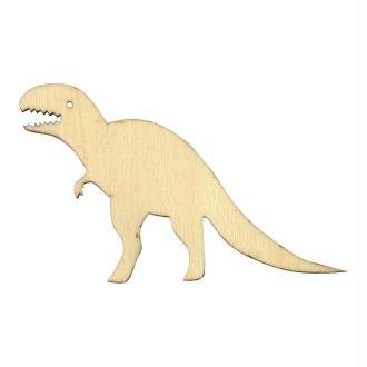 Silhouette en bois 10 cm Dinosaure tyrannosaure x3