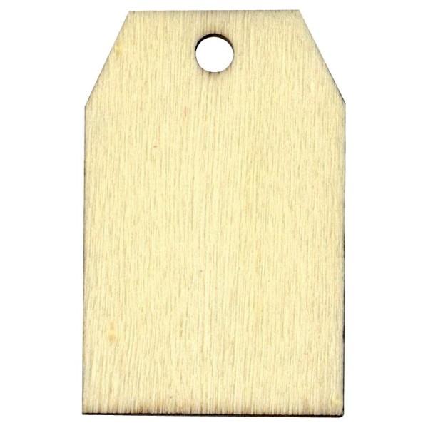 Etiquette en bois à personnaliser Rectangle 5,5 cm x6 - Photo n°1