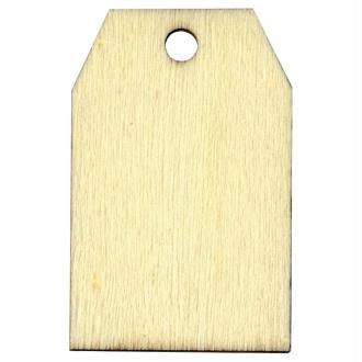 Etiquette en bois à personnaliser Rectangle 5,5 cm x6