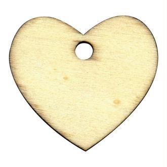 Etiquette en bois à personnaliser Coeur 5,5 cm x6