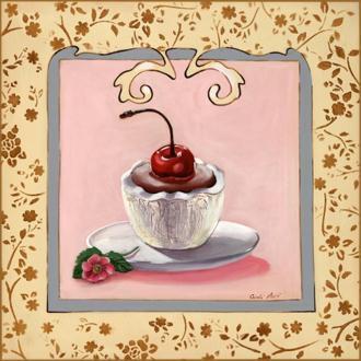 Image 3D cuisine - Gâteau cerise 30 x 30 cm