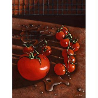 Image 3D cuisine - Grappe de tomates 30 x 40 cm