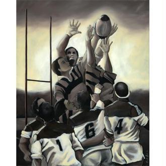 Image 3D Sport - Rugbymen 30 x 40 cm