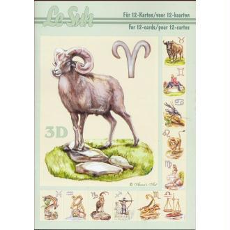 Bloc Livre 3D A5 à découper Signes du Zodiac