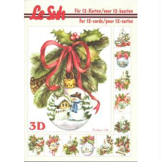 Bloc Livre 3D A5 à découper Noël