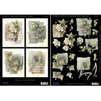 Carte 3D Condoléances recto verso die cut 21 x 29,7 cm