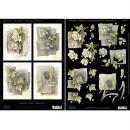 Carte 3D Condoléances recto verso die cut 21 x 29,7 cm - Photo n°1