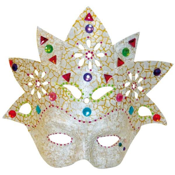 Masque Fleur en papier mâché 23 cm - Photo n°2