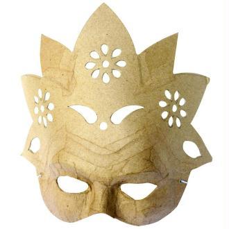 Masque Fleur en papier mâché 23 cm