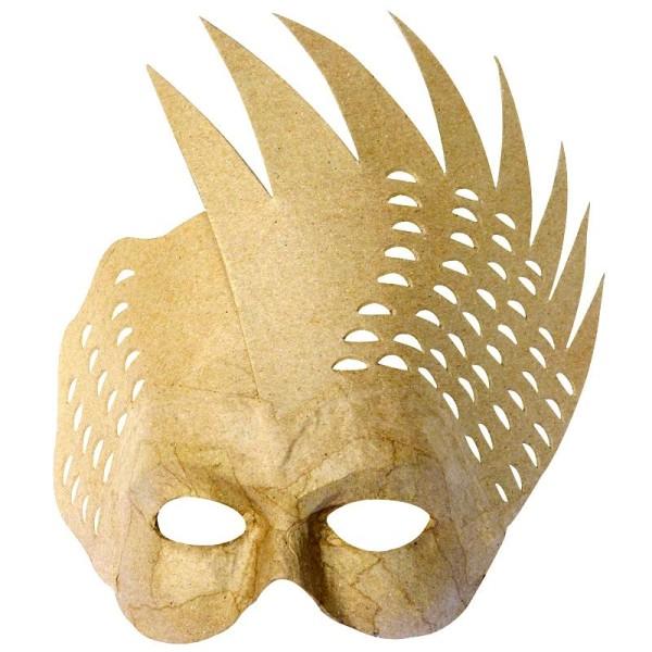 Masque Oiseau en papier mâché 25 cm - Photo n°1
