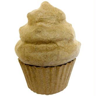 Cupcake en papier mâché 8 cm