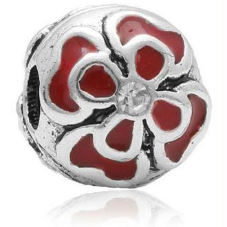 Clip Dahlia rouge