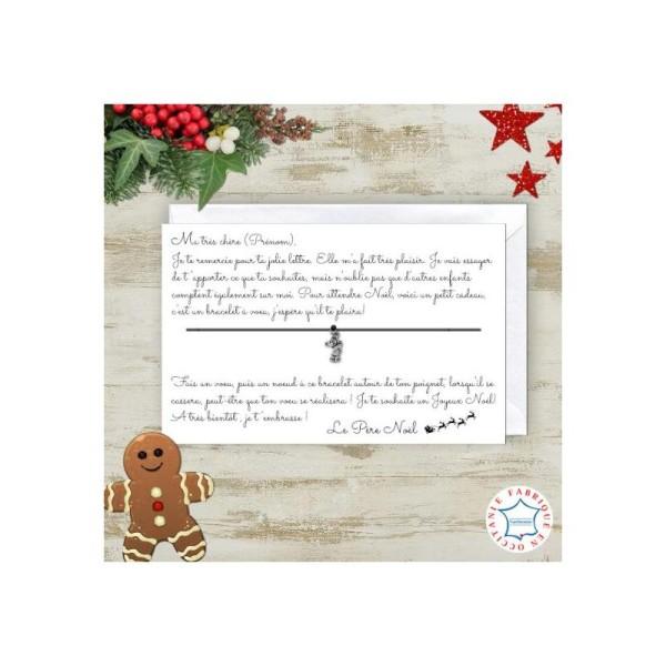 Lettre Au Pere Noel Personnalise.Bracelet A Voeux Lettre Du Pere Noel Personnalisable