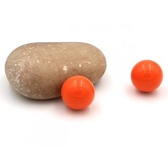 2 Billes Sonores Rondes Orange Foncé 16mm Pour Création Bolas De Grossesse