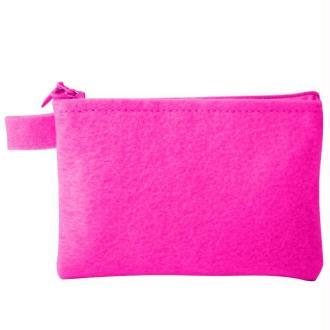 Pochette zip fuchsia 13 cm