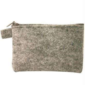 Pochette zip grise 13 cm