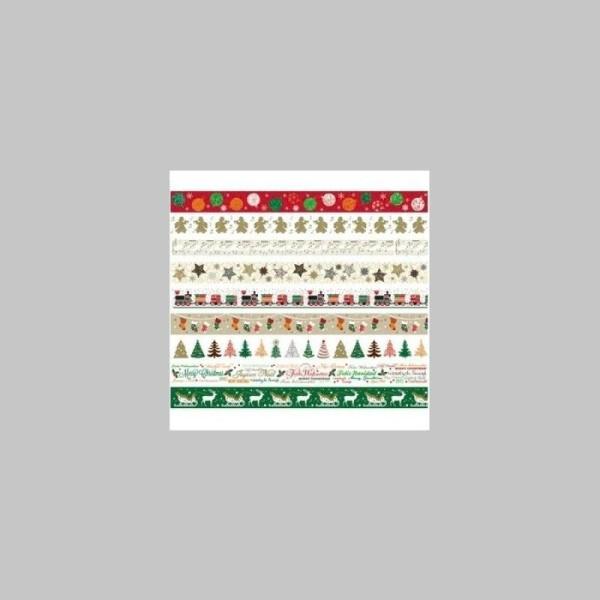Ruban décoratif adhésif  - Noël - Joyeux Noël - Photo n°1