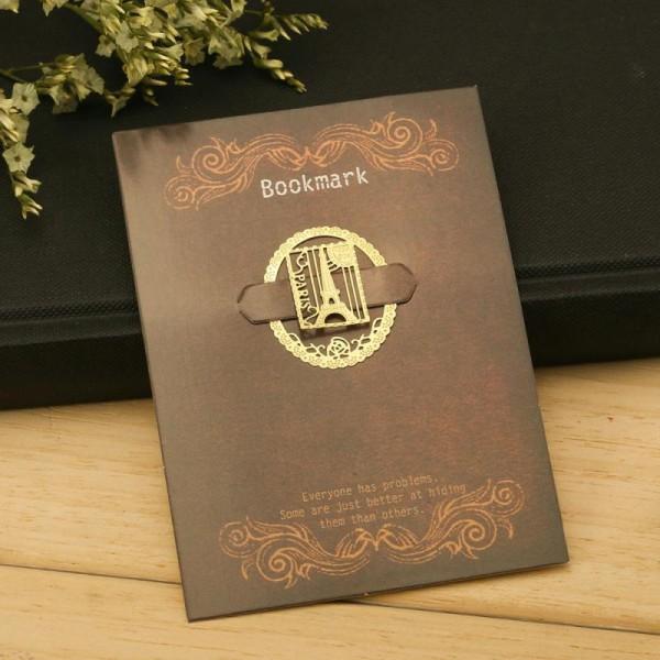 Marque pages en métal doré Paris Tour Eiffel - Photo n°3