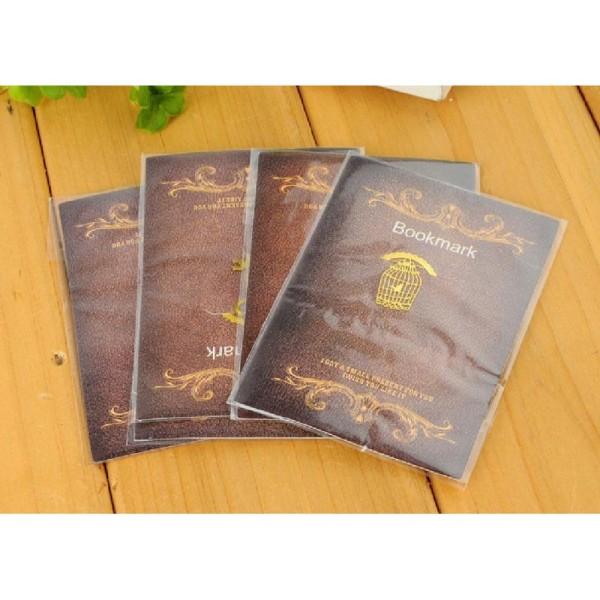 Marque pages en métal doré coeur - Photo n°2