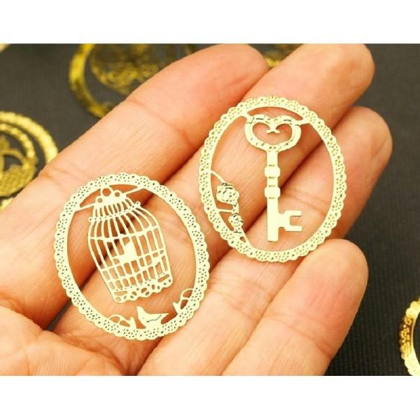 Marque pages en métal doré clé - Photo n°4