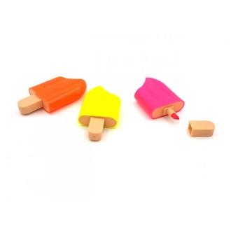 Pack De 3 Surligneurs En Forme De Glaces