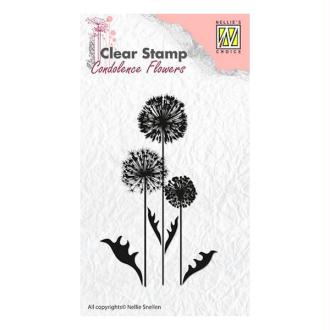 Tampon transparent clear stamp scrapbooking NELLIE'S CHOICE FLEUR 6