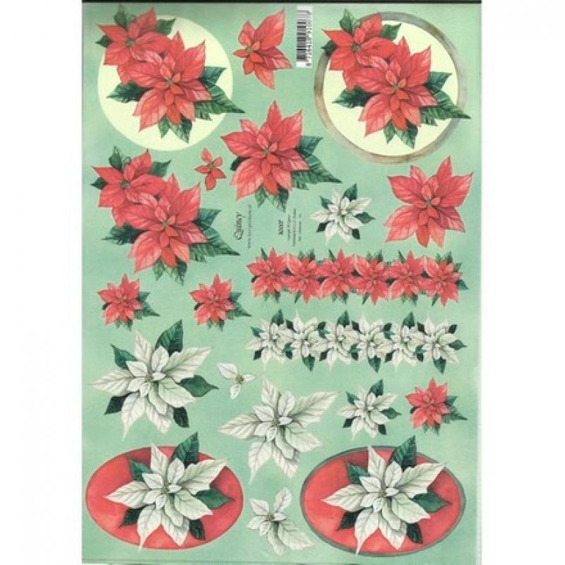 feuille 3d d coupage collage carte 3d a4 fleur blanche rouge 0007 papier d coupage papier de. Black Bedroom Furniture Sets. Home Design Ideas