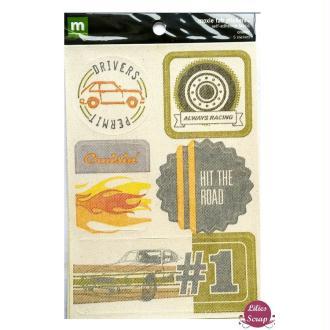 Stickers texturés voyage moxie fab 17 x 12 cm scrapbooking carterie créative