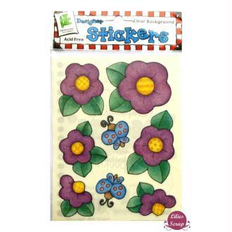 Stickers fleurs 15 x 11,5 cm scrapbooking carterie créative