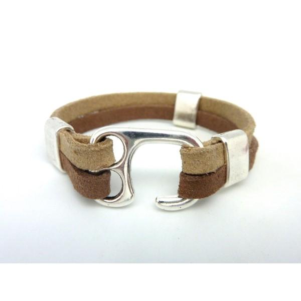 fermoir bracelet cuir