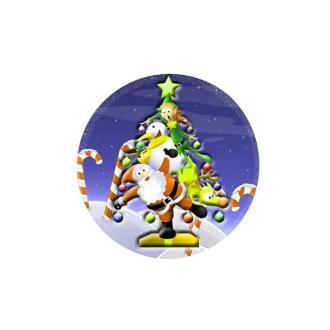 1 Cabochon 25 mm en Verre Sapin Noel Pop 4
