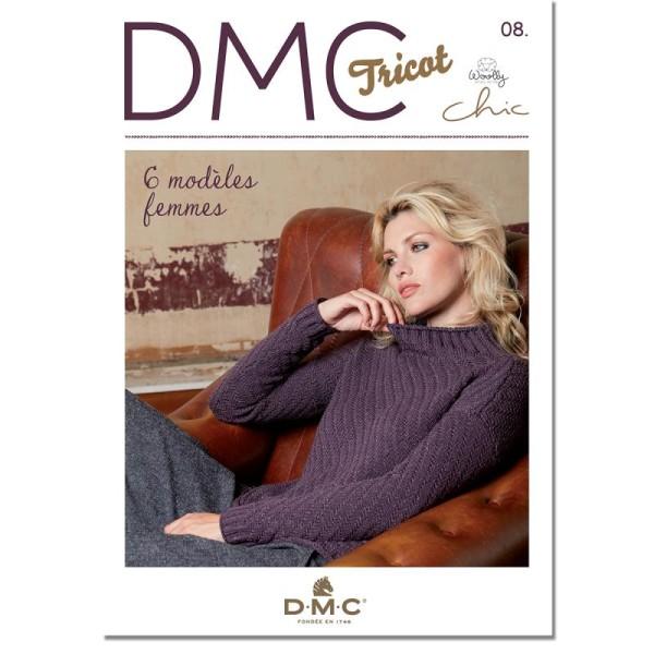 Catalogue tricot DMC - Woolly Chic - 6 modèles Femmes - Photo n°1