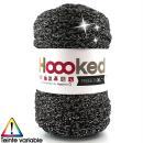 Ribbon XL DMC - Pelote Jersey Noir et argenté - 85 m - Photo n°1