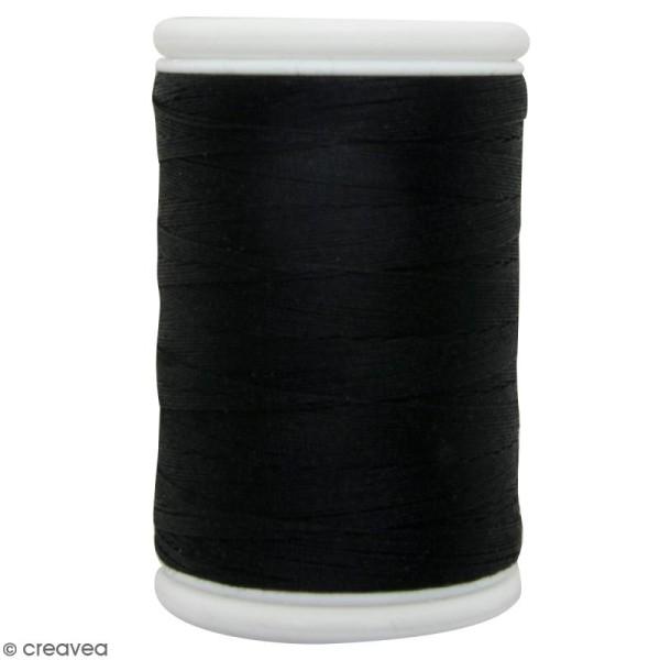 Fil à coudre en coton câblé DMC Nv. 40 - Noir - 300 m - Photo n°1