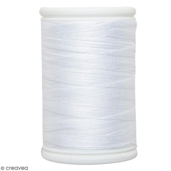Fil à coudre en coton câblé DMC Nv. 50 - Blanc - 300 m - Photo n°1