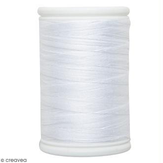 Fil à coudre en coton câblé DMC Nv. 50 - Blanc - 300 m