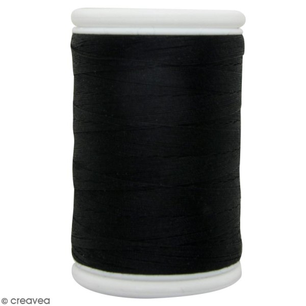 Fil à coudre en coton câblé DMC Nv. 50 - Noir - 300 m - Photo n°1