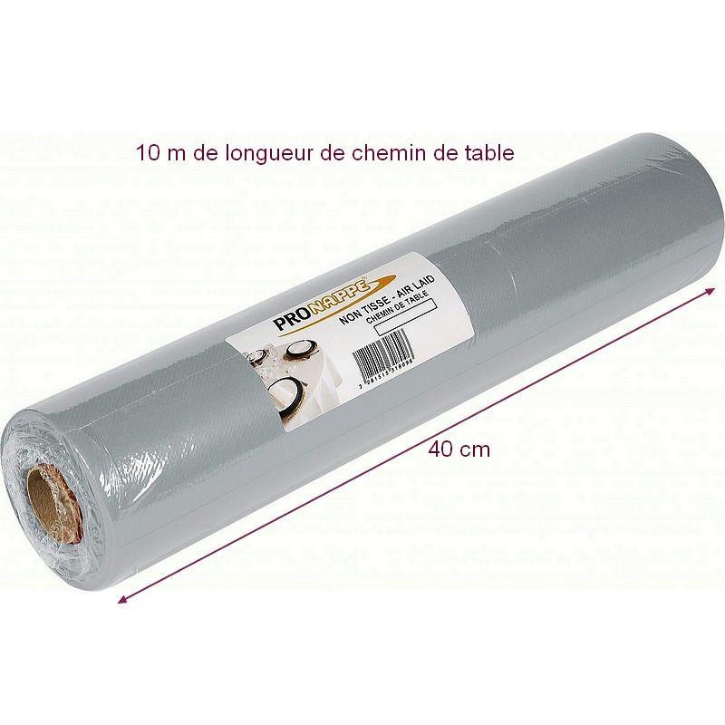 Chemin de table non tiss airlaid couleur gris cendre for Cendre de bois au jardin