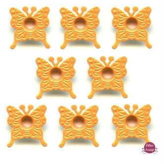 10 Oeillets 3/16 Papillons orange 20 mm eyelets scrapbooking