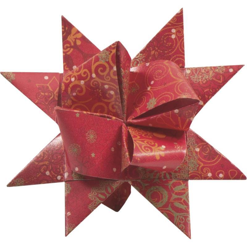 Bandes de papier origami pour etoiles de l 39 avent cristal rouge le - Bande de papier peint sur peinture ...