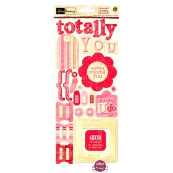 Stickers Sandylion Love Totally you 32 x 14 cm scrapbooking - Photo n°1