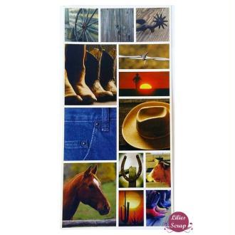 Stickers Cowboy santiag Far West Pebbles Inc 31 x 15 cm scrapbooking