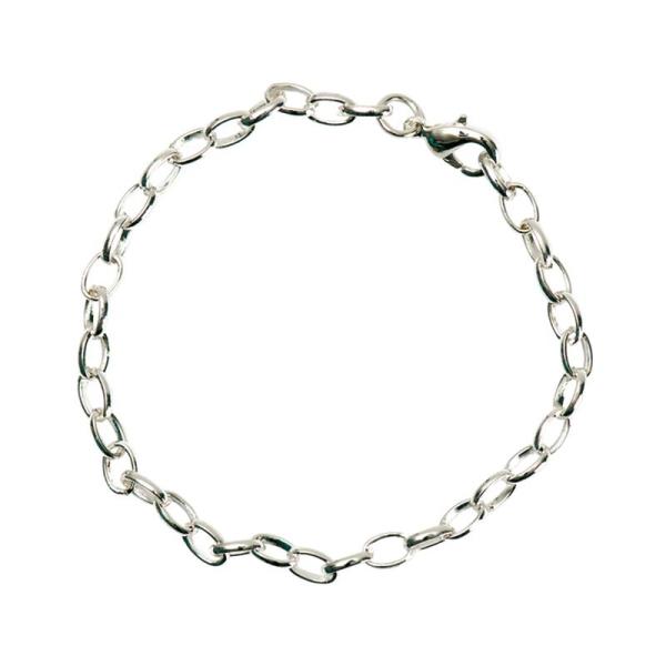 Chaîne bracelet en métal argenté 16 cm - Photo n°1