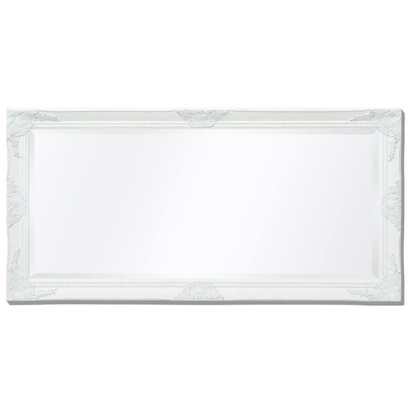 Vidaxl miroir mural style baroque 120 x 60 cm blanc miroir adh sif creavea for Miroir mural baroque