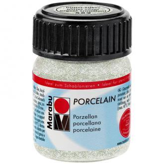 Peinture porcelaine Argent scintillant 15 ml