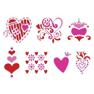 Pochoir adhésif multi support Amour x7