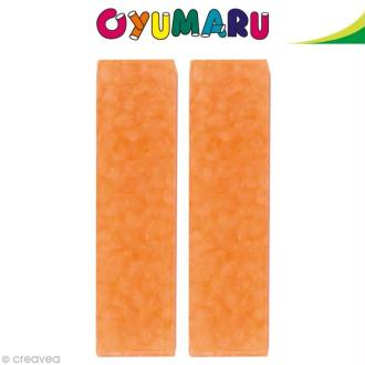 Pâte Oyumaru Orange x 2 bâtonnets